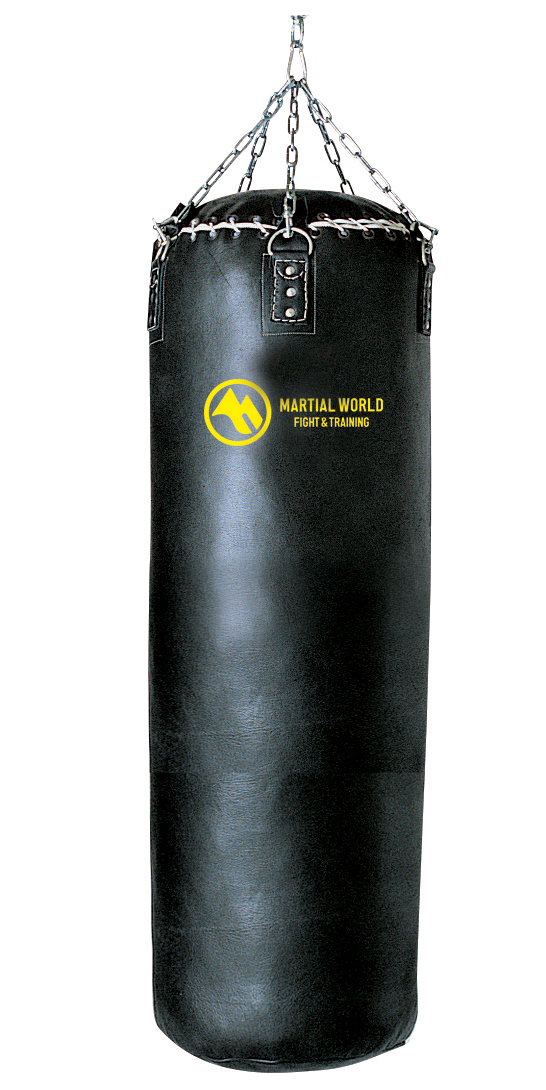 高級本革トレーニングバッグ 110cm マーシャルワールド製 格闘技 用品 空手 筋トレ 器具 フィットネス strongsports