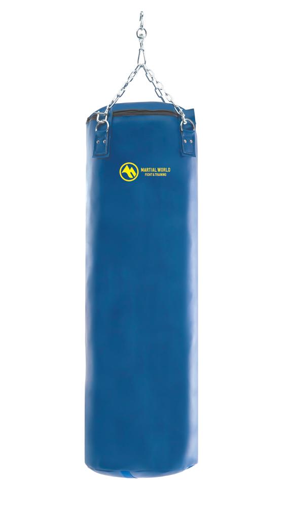 レザートレーニングバッグ 青 120cm【マーシャルワールド製 格闘技 空手 筋トレ 器具 フィットネス】【strongsports】