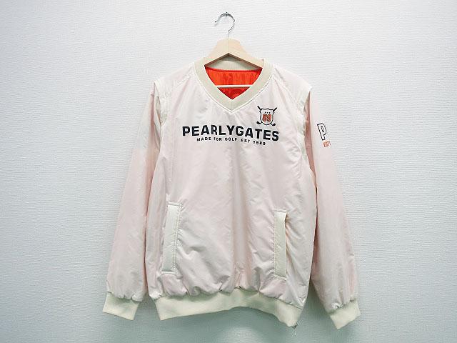 PEARLY GATES パーリーゲイツ リバーシブル2WAY中綿スニードジャック ホワイト系 4 【中古】ゴルフウェア メンズ