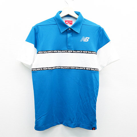 NEW BALANCE ニューバランス 半袖ポロシャツ ブルー系 5 【中古】ゴルフウェア メンズ