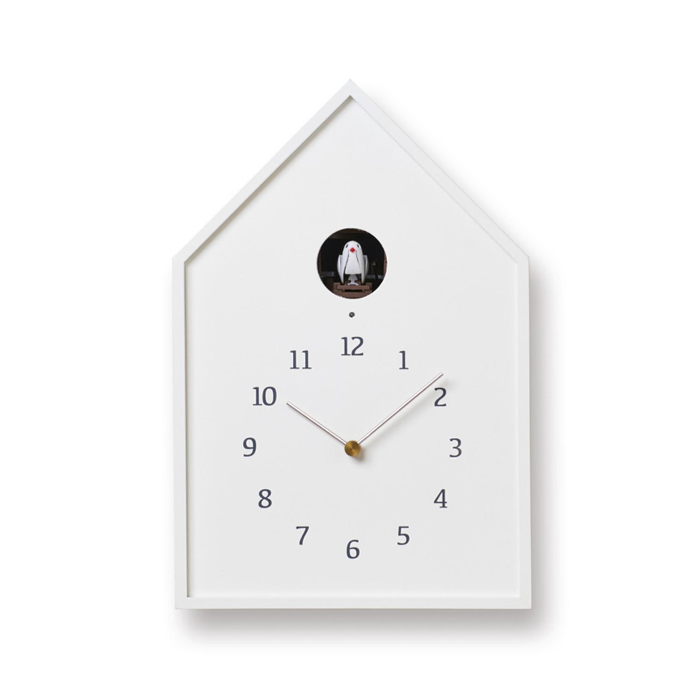 時刻を告げる小鳥と暮らす Lemnos Birdhouse 再再販 ホワイト Clock 訳あり