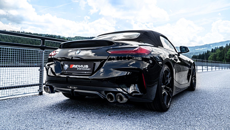 <title>送料無料 オーストリアンサウンド REMUS マフラー Φ102 アングル 海外並行輸入正規品 ストレートカット W 左右だし BMW G29 Z4 M40i '19-</title>