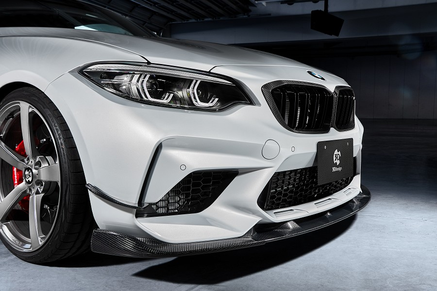 3D Design カナード 単品 for BMW F87 M2Competition