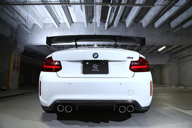 3D DesignレーシングリアウィングFor BMW F87/M2