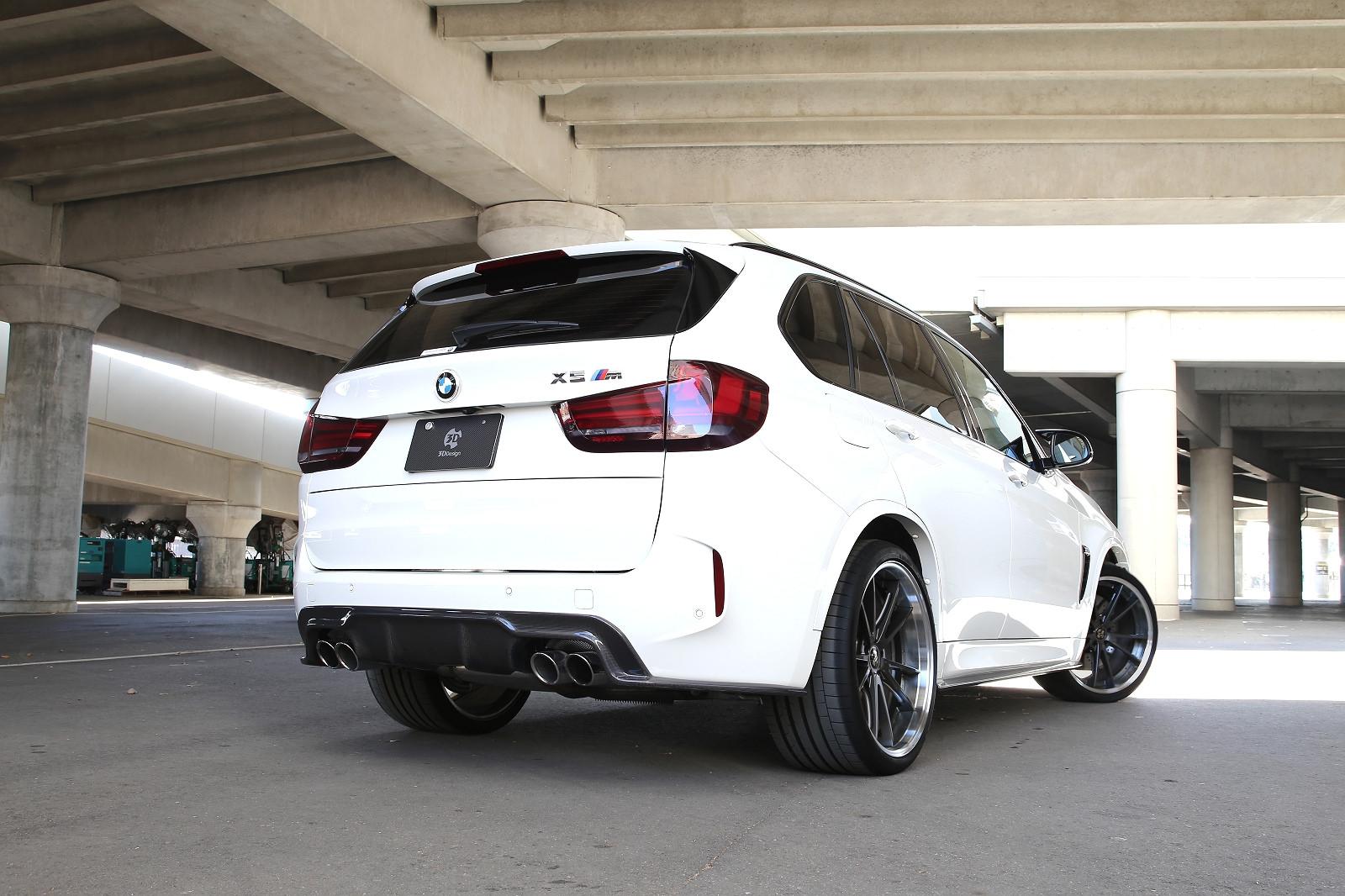 3D Designカーボンリアディフューザーデュアル4テールfor BMW F85 X5M