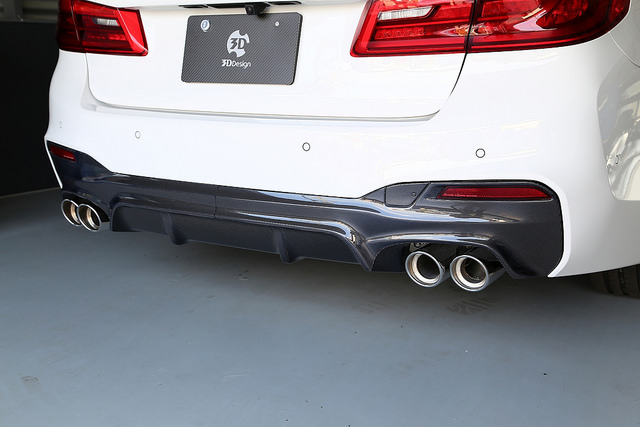 3D Design リアディフューザー タイプ2(カーボン)BMW G30/G31 M-Sport
