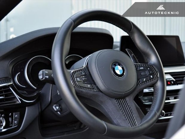AUTOTECKNIC Carbon/Alcantara Steering Wheel Trim for BMW G30 / G31 / G32
