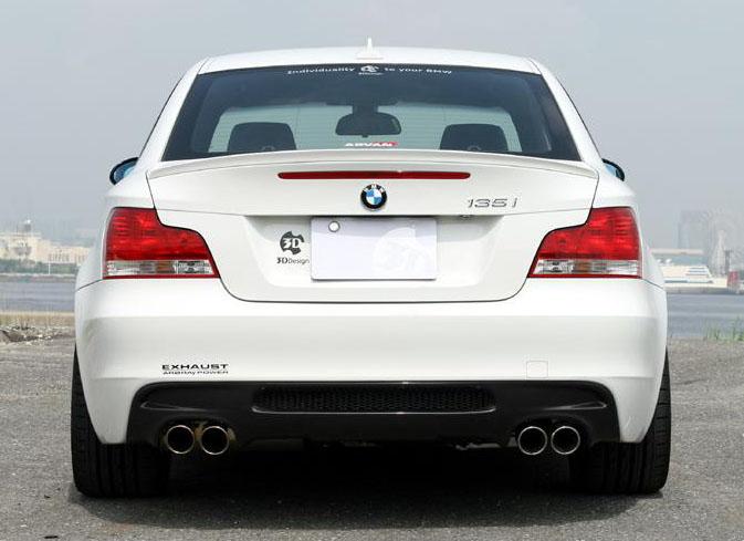 3D Designカーボンリアディフューザーfor BMW E82 デュアル