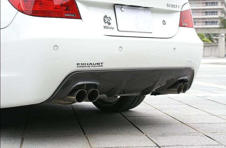 3D Designカーボンリアディフューザーfor BMW E60/61(Mスポーツ) デュアルマフラー用