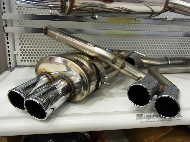 SuperSprint リアマフラー80mm○左右 2本出しF10 5シリーズ 523/528 N52エンジン