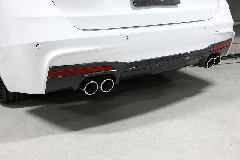 3D DesignカーボンリアディフューザーBMW F30/F31 320/328 M-sport