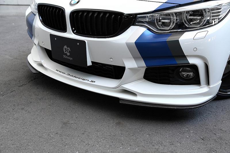3D Designアンダーフリッパーfor BMW F32 M-SPORTフロントリップスポイラー装着車用