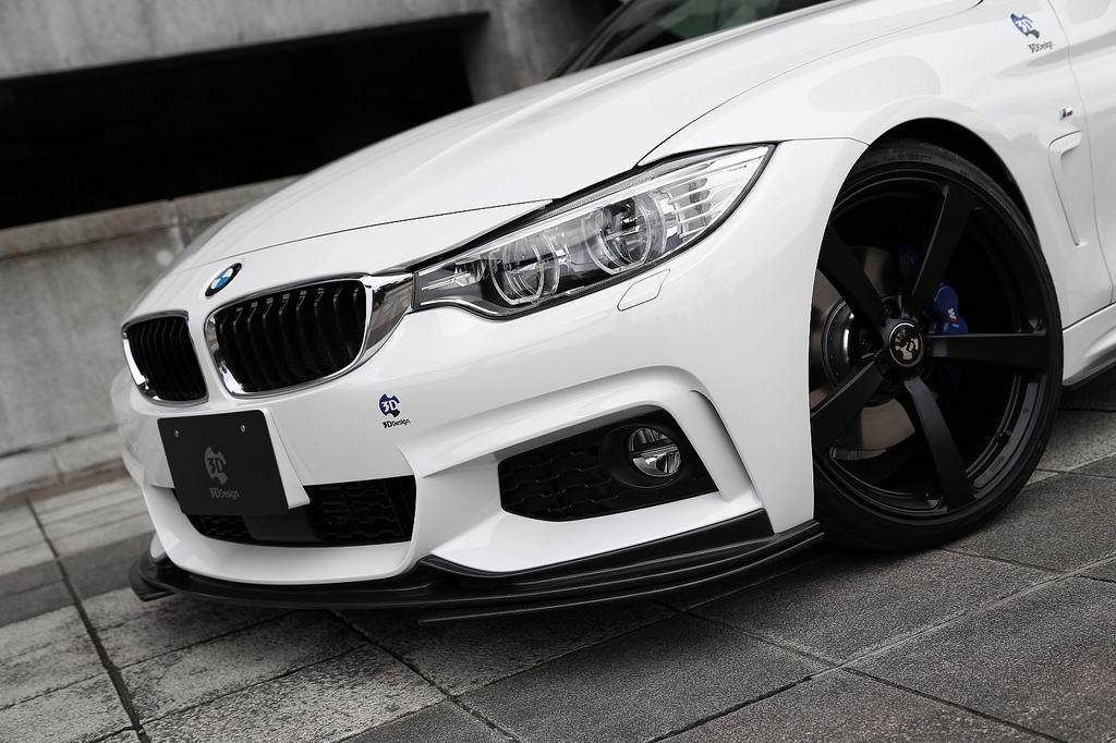 3D Designフロントリップスポイラー カーボンfor BMW F32 M-SPORT