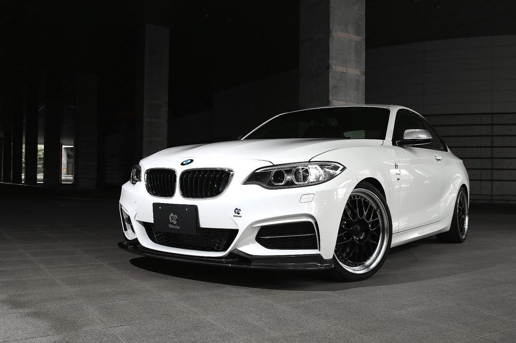 3D Design フロント カーボンリップ for BMW F22 M235i 220i M-SPORT