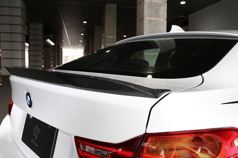 3D Designトランクスポイラー カーボンfor BMW F36