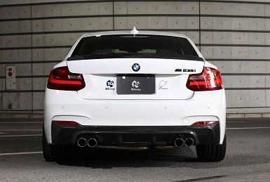 3D Designエギゾーストシステムfor BMW F22 M235i 4テール