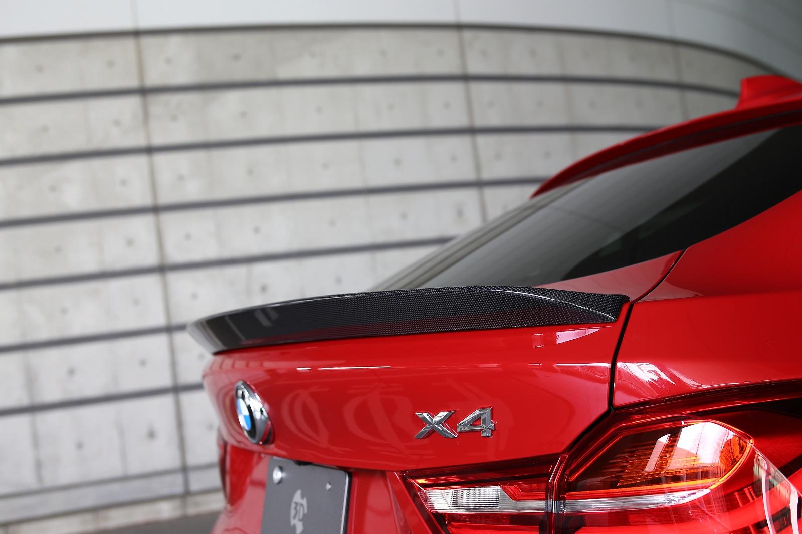 3D Designカーボントランクスポイラー for BMW F26 X4