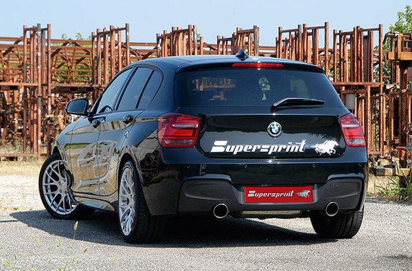 SuperSprint リアマフラー100mm○左右2本出しF20 1シリーズ M135i