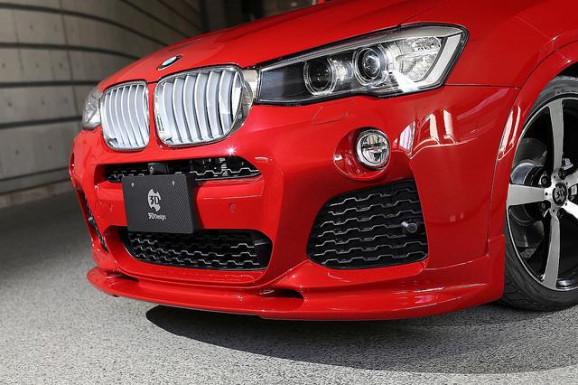 3D Designフロントリップスポイラー for BMW F26 X4 M-Sport