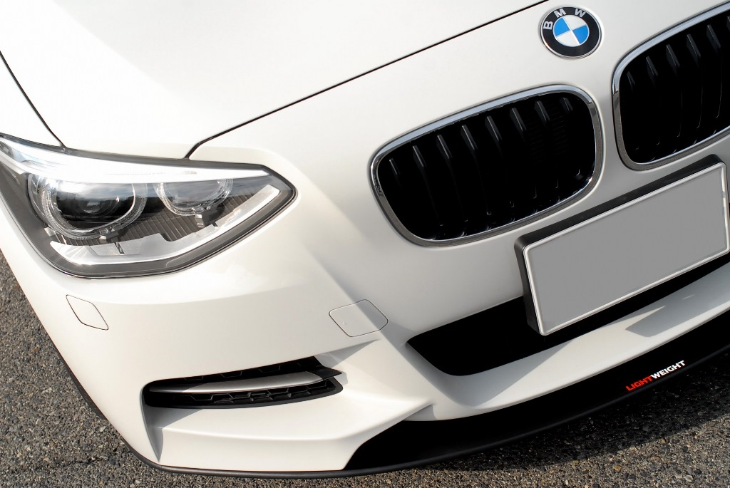 LightWeight BMW F20 M-Sport Front Carbon Lip