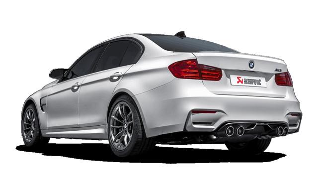 AKRAPOVI Cチタンマフラー カーボンテール for BMW F80 M3 / F82 M4