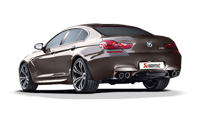 AKRAPOVIC チタンマフラー カーボンテール for BMW F06/GC M6