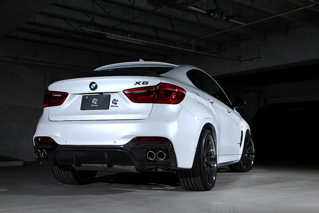 3D Designカーボンリアディフューザーデュアル4テールfor BMW F16 X6 M-Sport