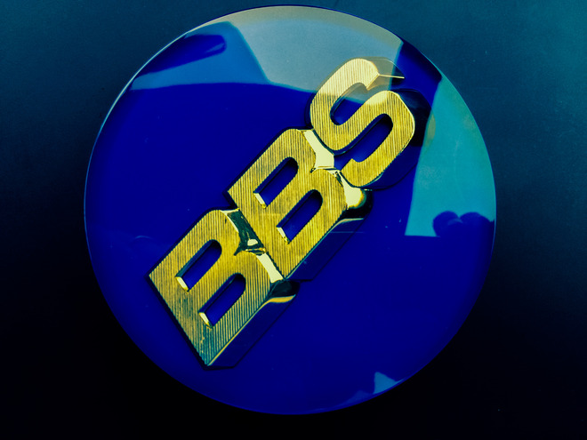 BBS センターエンブレム ブルー 4枚組
