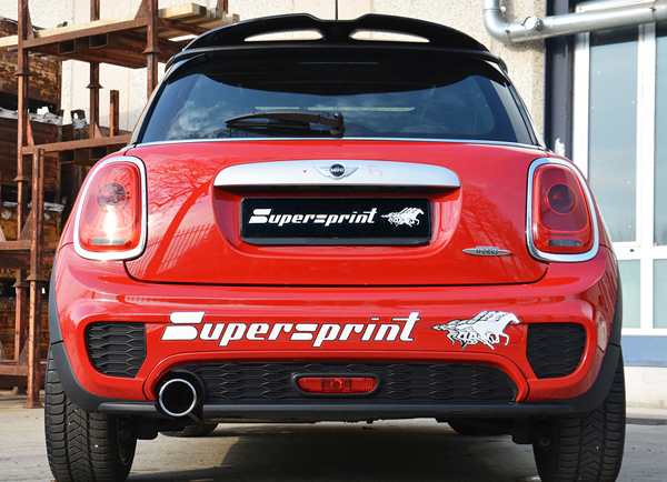 SuperSprint マフラー100mm○1本出しF56 COOPER