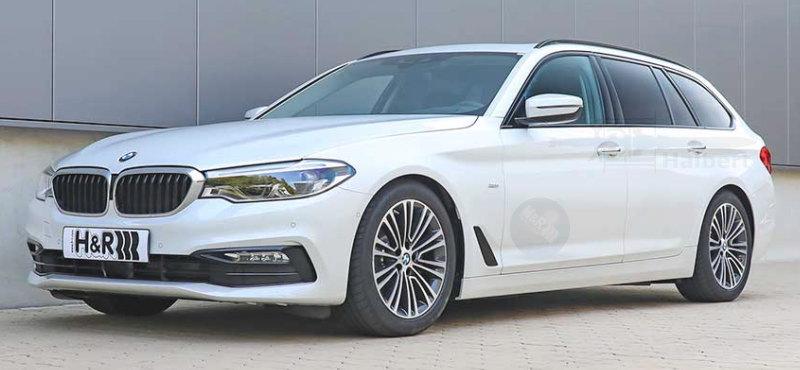 H&R製ローダウンスプリングfor BMW G31 ツーリング 4WD 540i x-Drive リアエアサス車リアロッド付き