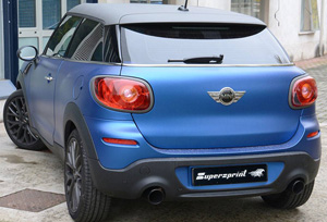 SuperSprint マフラー100mmブラック○2本出しR61 PACEMAN JCW 218HP ALL4 4WD '13-