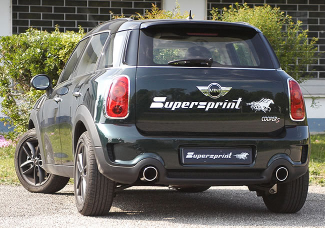 SuperSprint マフラー100mmブラック○2本出しR60 CROSSOVER JCW 218HP ALL4 4WD '12-