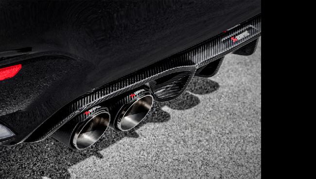 AKRAPOVIC Rear Carbon fiber diffuser MatteFor BMW F80/M3 F82/M4