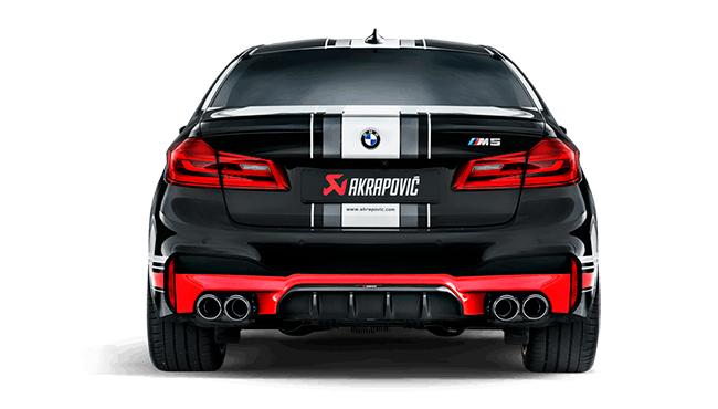 AKRAPOVIC Rear Carbon fiber diffuser MatteFor BMW F90 M5