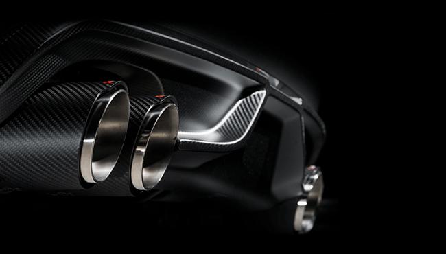 AKRAPOVIC Rear Carbon fiber diffuser ForBMW F85 X5/M F86/X6M