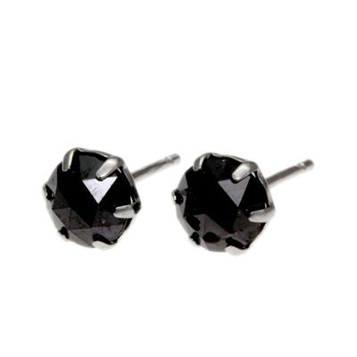 高い品質 ブラックダイヤモンド ピアス 一粒 ピアス 送料無料 ブラックダイヤ ピアス ダイヤモンド ピアス ダイヤ ピアス メンズ ピアス ローズカット ピアス 18金 18K ファーストピアス SS_OTK, まめ暮らし 6db05dc0