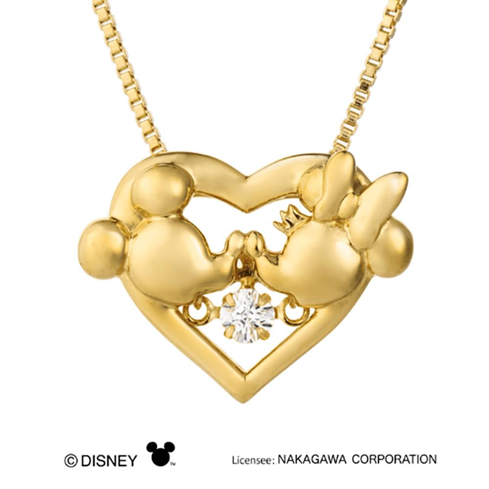期間限定 店内全品ポイント10倍 ネックレス ダンシングストーン ネックレス クロスフォーニューヨーク キュービックジルコニア ミッキーマウス Disney Series ネックレス SV925 シルバー NDP-003Y Heart Kiss【正規品メーカー保証付】