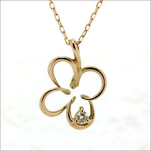 期間限定 店内全品ポイント10倍 ダイヤモンド ネックレス クローバー ネックレス クローバー ダイヤモンドネックレス ダイヤネックレス K18 18K 18金 ゴールド スキンジュエリー 重ねづけ
