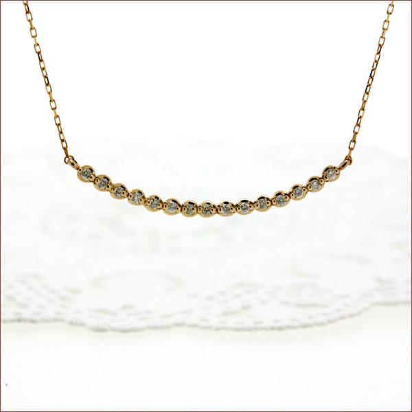 期間限定 店内全品ポイント10倍 ダイヤモンド ネックレス エタニティ ネックレス ミルライン ダイヤ セブンスーン 7連