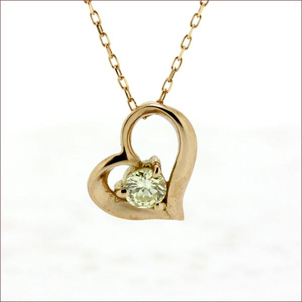 期間限定 店内全品ポイント10倍 ダイヤモンド ネックレス ハート ネックレス ダイヤモンドネックレス ダイヤネックレス 18金 K18 ゴールド イエローゴールド