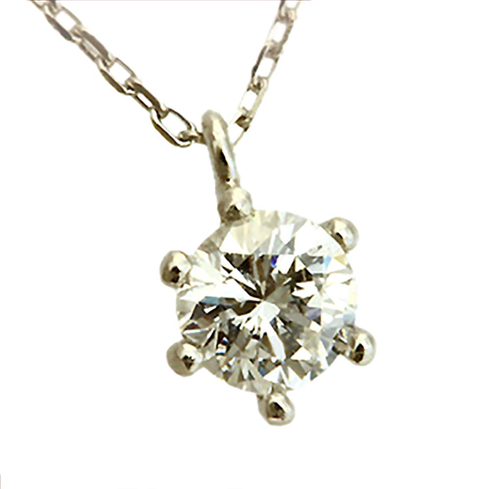 期間限定 店内全品ポイント10倍 一粒 ダイヤモンド ネックレス ダイヤ 0.2ct Pt プラチナ 重ねづけ