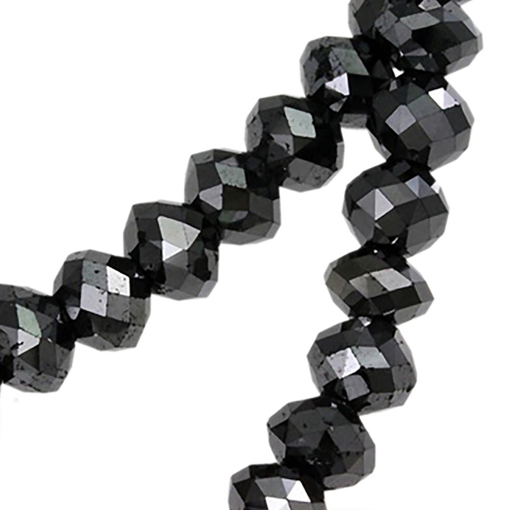 ジュエリー・アクセサリー ブラックダイヤモンド ネックレス ダイヤモンド ネックレス 200ct ダブルワイヤー グレードAAA★ ブラックダイヤ ネックレス ブラック ネックレス ストレート Wワイヤー メンズ