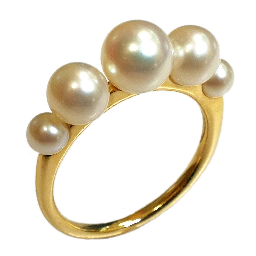 期間限定 店内全品ポイント10倍 パールリング 真珠の指輪 あこや本真珠 アコヤパール 3.6-6.3mm リング ジュエリー 10金 K10 ピンク PG イエロー YG ホワイト WG 指輪 レディース 指輪 ファッションリング 6月誕生石 送料無料