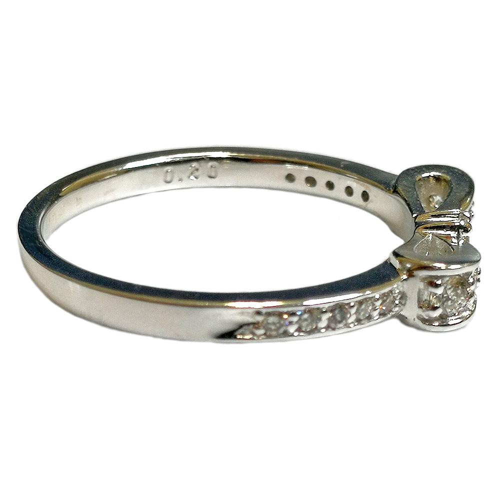 ダイヤモンド リボン リング ジュエリー 10金 K10 ピンク PG イエロー YG ホワイト WG リボン 指輪 レディース 指輪 ファッションリング 4月誕生石  【コンビニ受取対応商品】