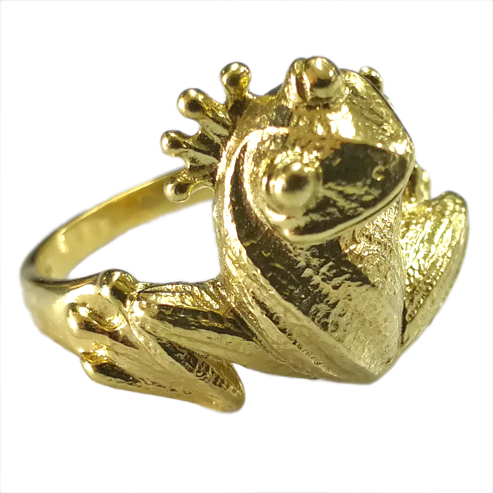 リング カエル 指輪 10金 K10 ピンクゴールド PG イエローゴールド YG ホワイトゴールド WG 蛙 レディース 妻 嫁 奥さん 女性 彼女 娘 母 祖母 パートナー カエル 縁起物 振り返る 送料無料