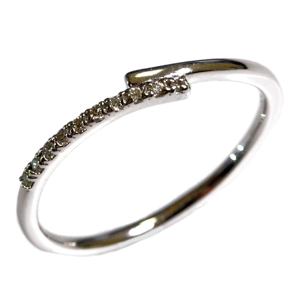 期間限定 店内全品ポイント10倍 ダイヤモンド リング ジュエリー 18金 K18 ピンク PG イエロー YG ホワイト WG エタニティ風 レディース 指輪 ファッションリング 4月誕生石 送料無料