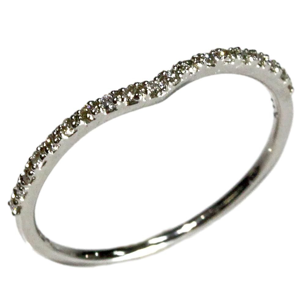 ダイヤモンド V字 ハーフ エタニティリング ジュエリー 10金 K10 0.09ct 指輪 リング シンプル エタニティ レディース 指輪 ファッションリング 4月誕生石 送料無料