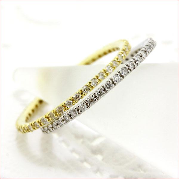 ダイヤモンド リング フルエタニティリング ダイヤ 0.2ct 送料無料 エタニティリング エタニティー エタニティ ダイヤ エタニティーリング K18 18金 ゴールド 重ねづけ リング