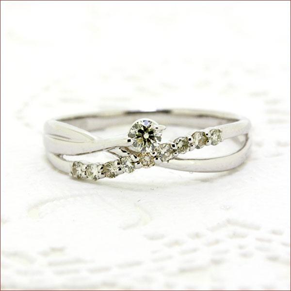 ダイヤモンド リング 送料無料 ジュエリー ダイヤ リング 指輪 K18 18金 ゴールド ホワイトゴールド WG