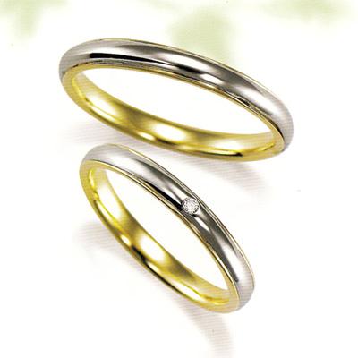 期間限定 店内全品ポイント10倍 結婚指輪 マリッジリング プラチナ 2本セット 送料無料 ペアリング カップル ダイヤモンド リング 指輪 地金リング レディース リング プラチナ リング プラチナ Pt イエローゴールド YG